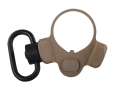 Troy Industries OEM M4 Receiver End Plate Sling Mount Adapter 2 Position Ambidextrous with Quick Detach Sling Swivel AR-15, LR-308 Carbine Aluminum Flat Dark Earth
