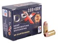 Cor-Bon DPX Ammunition 380 ACP 80 Grain DPX Hollow Point Lead-Free Box of 20