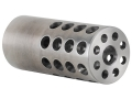 "Product detail of Vais Muzzle Brake Varmint 264 Caliber, 6.5mm 5/8""-32 Thread .875"" Outside Diameter x 2"" Length Stainless Steel"