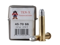 Ten-X Cowboy Ammunition 45-70 Government Single Shot 405 Grain Round Nose Flat Point Box of 20