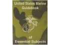 """U.S. Marine Guide Book of Essential Subjects"" Military Manual by U.S. Marine Corps"