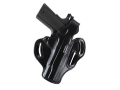 DeSantis Thumb Break Scabbard Belt Holster Right Hand Glock 29. 30, 39 Suede Lined Leather Black