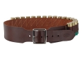 "Hunter Cartridge Belt 2-1/2"" 20 Gauge 18 Loops Leather Antique Brown Medium"