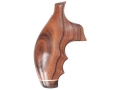Hogue Fancy Hardwood Grips with Accent Stripe, Finger Grooves and Contrasting Butt Cap S&W J-Frame Round Butt Pau Ferro