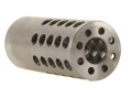 "Product detail of Vais Muzzle Brake Micro 308 Caliber 1/2""-32 Thread .750"" Outside Diameter x 1.750"" Length Stainless Steel"