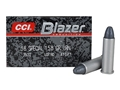 CCI Blazer Ammunition 38 Special 158 Grain Lead Round Nose Box of 50