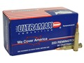 Ultramax Remanufactured Ammunition 223 Remington 50 Grain Nosler Ballistic Tip Box of 50