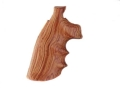 Hogue Fancy Hardwood Grips with Finger Grooves Colt Trooper Mark III Tulipwood