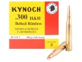 Kynoch Ammunition 300 H&amp;H Magnum 180 Grain Woodleigh Weldcore Soft Point Box of 5