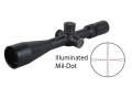 Nightforce Army-Spec NXS F1 Rifle Scope 30mm Tube 3.5-15x 50mm Hi-Speed Zero Stop Side Focus 1/10 Mil Adjustment First Focal Illuminated Mil-Dot Reticle Matte