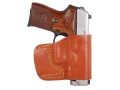 Gould & Goodrich B891 Belt Holster Right Hand Kahr Covert 40, E9, K9, P9, K40, P40 Leather Chestnut Brown