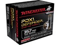 Winchester PDX1 Defender Ammunition 357 Magnum 125 Grain Bonded Jacketed Hollow Point