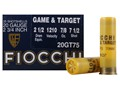 "Fiocchi Dove & Target Ammunition 20 Gauge 2-3/4"" 7/8 oz #7-1/2 Shot"