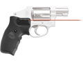 Crimson Trace Lasergrips Smith & Wesson J-Frame Round Butt Extended Grip Overmolded Rubber Black