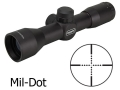 Leapers UTG Golden Image Compact Rifle Scope 4x 32mm Mil-Dot Reticle Matte