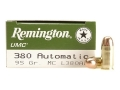 Remington UMC Ammunition 380 ACP 95 Grain Full Metal Jacket Box of 50