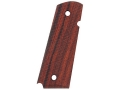 Hogue Grips with Palm Swells 1911 Government, Commander Checkered Cocobolo
