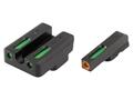 TRUGLO TFX Pro Sight Set CZ 75, 85 Tritium / Fiber Optic Green with Orange Front Dot Outline