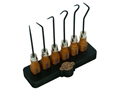 Grace USA 6-Piece Hook and Pick Set with Bench Block