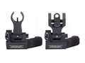 Troy Industries Offset Flip-Up Battle Sight Set HK-Style Front, Round Rear AR-15 Aluminum