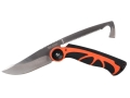 "Real Avid Viscera Folding Hunting Knife 3.75"" Drop Point and Pelvic saw with Gut Hook 440 Stainless Steel Blade Rubber Handle Black and Orange"