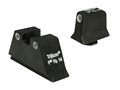 Trijicon Suppressor Night Sight Set Glock Large Frame 3-Dot Tritium Grn with White Outline