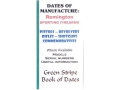 Green Stripe Data Books &quot;Remington&quot; Book by Firing Pin Enterprises
