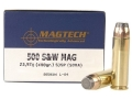 Magtech Sport Ammunition 500 S&amp;W Magnum 400 Grain Semi-Jacketed Soft Point Box of 20