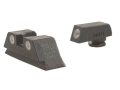 Meprolight Tru-Dot Sight Set Glock 20, 21, 29, 30, 36 Steel Blue Tritium Green Front Yellow Rear