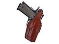 Bianchi 19L Thumbsnap Holster Right Hand Glock 26, 27, 33 Suede Lined Leather Tan