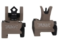 Troy Industries Micro Flip-Up Battle Sight Set M4-Style Front and Di-Optic Aperture (DOA) Rear AR-15 Aluminum Flat Dark Earth