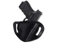 El Paso Saddlery #88 Street Combat Outside the Waistband Holster Right Hand Glock 26, 27, 33 Leather Black
