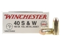 Winchester USA Ammunition 40 S&amp;W 180 Grain Full Metal Jacket