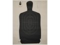 "NRA Official Silhouette Target B-27 (35"") 50 Yard Paper Black/White Package of 100"