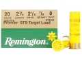 Remington Premier STS Target Ammunition 20 Gauge 2-3/4&quot; 7/8 oz #9 Shot
