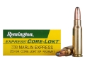 Product detail of Remington Premier Ammunition 338 Marlin Express 250 Grain Soft Point Box of 20