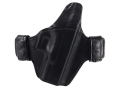 Bianchi Allusion Series 125 Consent Outside the Waistband Holster Right Hand Glock 19, 23, 32 Leather Black