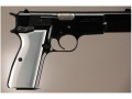 Hogue Extreme Series Grip Browning Hi-Power Brushed Aluminum Gloss Clear