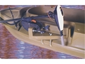 Beavertail Stealth Sneak Boat Motor Mount for Stealth 1200 Marsh Brown