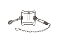 Duke #120 Body Trap Steel Silver