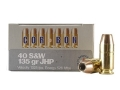 Cor-Bon Self-Defense Ammunition 40 S&W 135 Grain Jacketed Hollow Point Box of 20