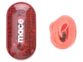 Mace Safety Flasher Flashlight with Belt Clip and Fluorescent Arm Strap Polymer Red