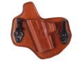 Bianchi Allusion Series 135 Suppression Tuckable Inside the Waistband Holster Left Hand Glock 17, 22, 31 Leather Tan