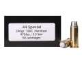 Doubletap Ammunition 44 Special 240 Grain Semi-Wadcutter Hardcast Box of 50
