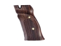 Hogue Fancy Hardwood Grips S&amp;W 41 Right Hand Thumb Rest Checkered Rosewood