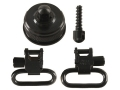 Uncle Mike&#39;s Quick Detachable Sling Swivel Cap Set Remington 11-87 12 Gauge 1&quot; Black