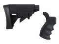 Advanced Technology Strikeforce Collapsible Stock with Pistol Grip & Scorpion Recoil System Commercial Diameter AR-15 Carbine Polymer Black