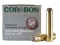 Cor-Bon Hunter Ammunition 460 S&amp;W Magnum 300 Grain Jacketed Soft Point Box of 20