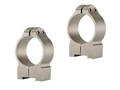 Warne 30mm Permanent-Attachable Ring Mounts Tikka Silver Medium