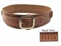 "Oklahoma Leather Deluxe Cartridge Belt 38 Caliber Leather Brown Medium 34"" to 39"""